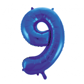 "Foilballoon No. 9, 34"" - blue"