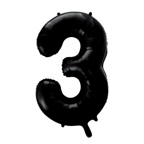 "Foilballoon No. 3, 34"" - black"