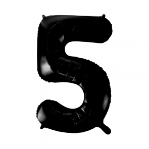 "Foilballoon No. 5, 34"" - black"