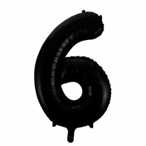 "Foilballoon No. 6, 34"" - black"