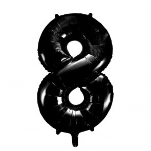 "Foilballoon No. 8, 34"" - black"
