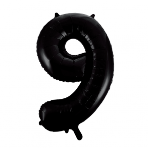 "Foilballoon No. 9, 34"" - black"