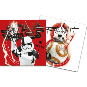 "20 Two-Ply Paper Napkins 33x33cm - Star Wars ""Episode 8"""
