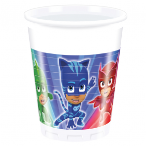 8 Plastic Cups 200ml - PJ Masks