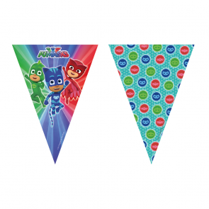 1 Triangle Flag Banner (9 Flags) - PJ Masks