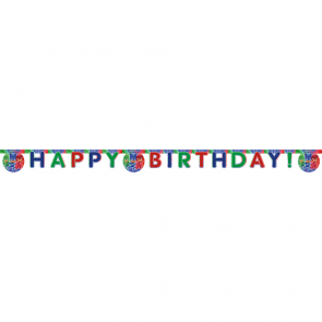 "1 ""Happy Birthday"" Die-Cut Banner - PJ Masks"