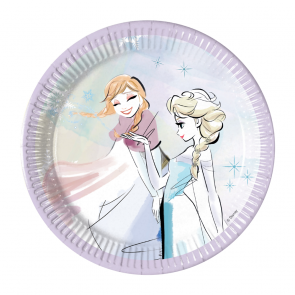 8 Paper Plates Medium 20cm - Frozen Sparkle