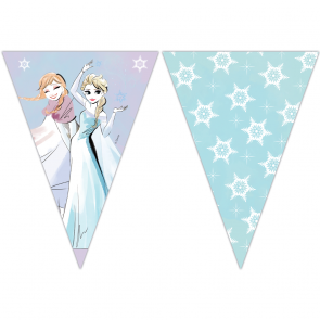 Triangle Flag Banner (9 Flags) - Frozen Sparkle