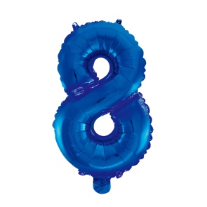 "Foilballoon No. 8, 16"" - blue"