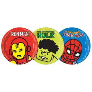 8 Paper Plates Large 23cm (3 mixed designs) - Avengers Team Power