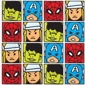 20 Two-Ply Paper Napkins 33x33cm - Avengers Team Power