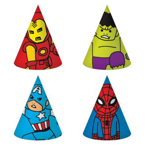 6 Hats (4 mixed designs)- Avengers Team Power