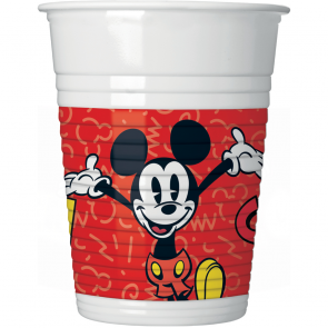 8 Plastic Cups 200ml  - Mickey Super Cool