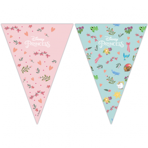Triangle Flag Banner (9 Flags) - Princess Dare To Dream