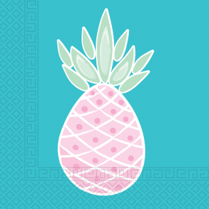 20 Two-Ply Paper Napkins 33x33cm - Pineapples