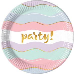 8 Paper Plates Large 23cm - Elegant Party
