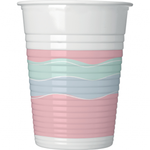 8 Plastic Cups 200ml - Elegant Party