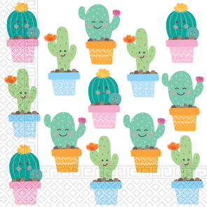 20 Two-Ply Paper Napkins 33x33cm - Cactus
