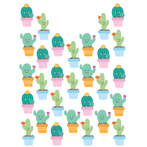 6 Party Bags - Cactus