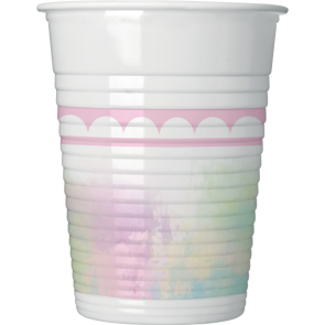 8 Plastic Cups 200ml - Believe in Unicorns