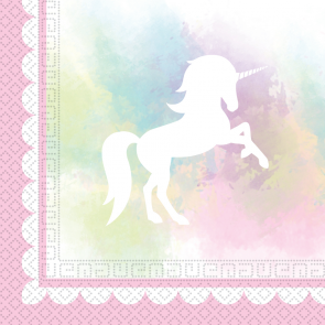 20 Two-Ply Paper Napkins 33x33cm - Believe in Unicorns