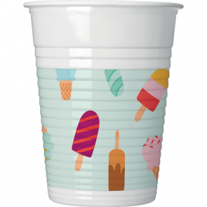8 Plastic Cups 200ml - Ice Cream Passion