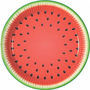 8 Paper Plates Large 23cm - Watermelon