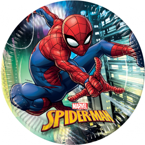 8 Paper Plates Large 23cm - Spiderman Team Up