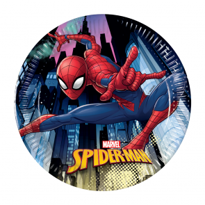 8 Paper Plates Medium 20cm - Spiderman Team Up