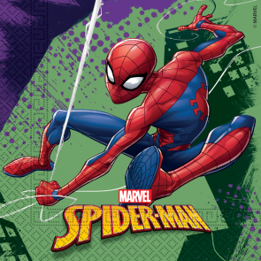 20 Two-Ply Paper Napkins 33x33cm - Spiderman Team Up