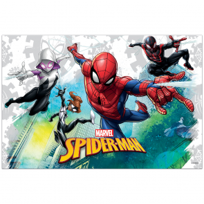 Plastic Tablecover 120x180cm - Spiderman Team Up