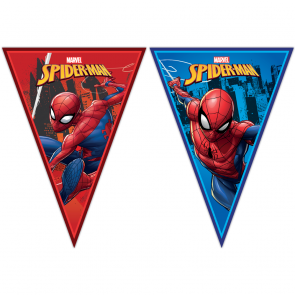 Triangle Flag Banner (9 Flags) - Spiderman Team Up