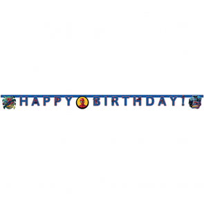 """Happy Birthday"" Die-Cut Banner - Spiderman Team Up"