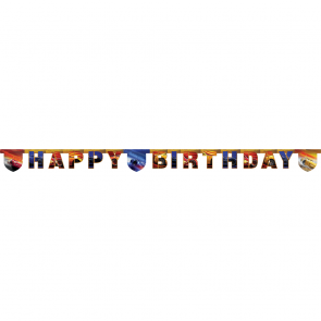 """Happy Birthday"" Die-Cut Banner - Cars The Legend of The Track"