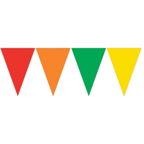 Triangle Flag Banner (9 Flags) - assorted color