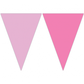 Triangle Flag Banner (9 Flags) - Pink / light pink