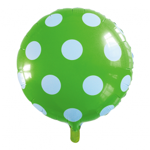 "Foilballoon round, 18""- dots apple green"