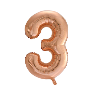 "Foilballoon No. 3, 34"" - rose gold"