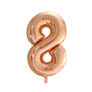 "Foilballoon No. 8, 34"" - rose gold"