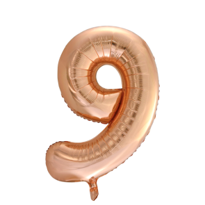 "Foilballoon No. 9, 34"" - rose gold"