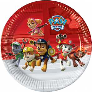 8 Paper Plates Large 23cm - Paw Patrol Ready for Action