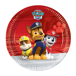 8 Paper Plates Medium 20cm - Paw Patrol Ready for Action