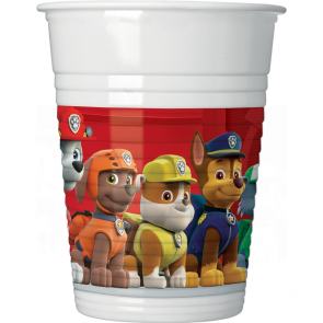 8 Plastic Cups 200ml - Paw Patrol Ready for Action
