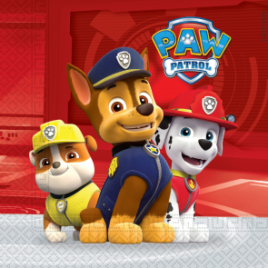 20 Two-Ply Paper Napkins 33x33cm - Paw Patrol Ready for Action