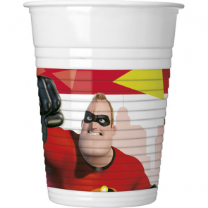 8 Plastic cups 200ml - The Incredibles 2
