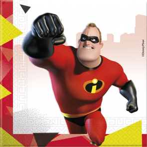 20 Two-Ply Paper Napkins 33x33cm - The Incredibles 2