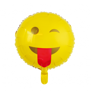 "Foilballoon round, 18""- Emoji Tongue"