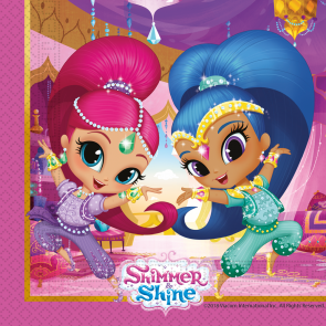 20 Two-ply Paper Napkins 33x33cm  - Shimmer & Shine