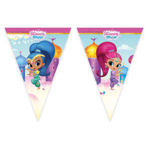 6 Triangle Flag Banner (9 Flags)  - Shimmer & Shine