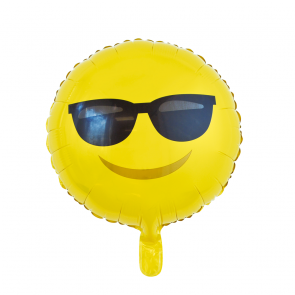 "Foilballoon round, 18""- Emoji Sunglasses"